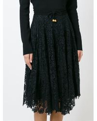 Maria Lucia Hohan - Embroidered Floral Lace Skirt - Lyst