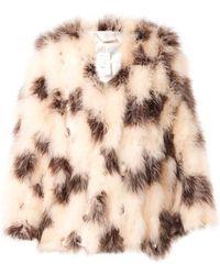 Chloé Polkadot Feathered Jacket - Lyst