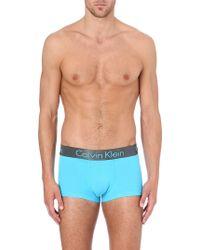 Calvin Klein Zinc Micro Trunks Bright Light Blue - Lyst