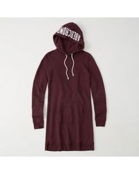 Abercrombie & Fitch - Graphic Sweatshirt Hoodie Dress - Lyst