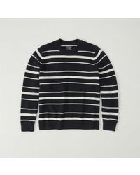 Abercrombie & Fitch - Striped Crew Sweater - Lyst