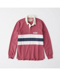 Abercrombie & Fitch - Graphic Logo Rugby Polo - Lyst