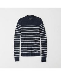 Abercrombie & Fitch - Button Mock Sweater - Lyst