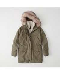 Abercrombie & Fitch - 3-in-1 Fur Lined Parka - Lyst