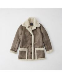 Abercrombie & Fitch | Shearling Coat | Lyst