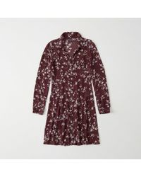 Abercrombie & Fitch - Flowy Shirtdress - Lyst
