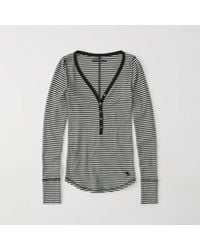 Abercrombie & Fitch - Icon Ribbed Henley - Lyst