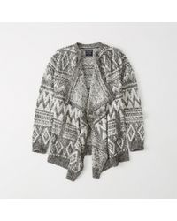 Abercrombie & Fitch - Open Front Blanket Cardigan - Lyst