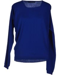 Balenciaga Blue Sweater - Lyst