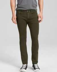 Paul Smith Jeans - 5 Pocket Slim Fit In Khaki Green - Lyst