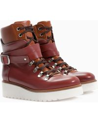 Zara Leather Mountain Boot - Lyst