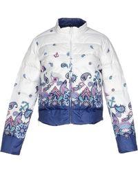 Frankie Morello Down Jacket white - Lyst