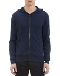 John Varvatos Zipfront Hoodie with Elbow Patches - Lyst