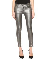 Stella McCartney Metallic Ankle Grazer Jeans - Lyst