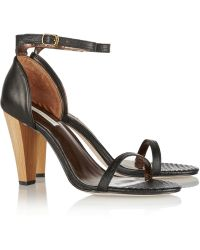Twelfth Street by Cynthia Vincent Mika Lizardeffect Leather Sandalsl - Lyst
