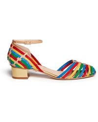 Charlotte Olympia 'Ranchera' Interwoven Suede Leather Pumps - Lyst