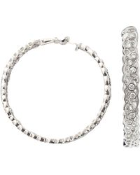 Aurelie Bidermann | Dentelle Diamond Lace Hoop Earrings | Lyst