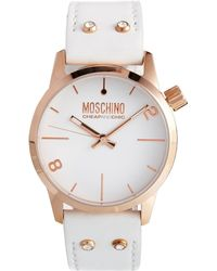 Boutique Moschino - Moschino Xxl White Watch - Lyst