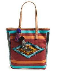 Sam Edelman 'Thea' Beaded Tote red - Lyst
