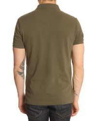 Polo Ralph Lauren Olive Slimfit Polo Shirt - Lyst