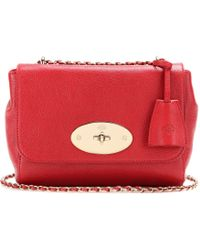 Mulberry Lily Glossy Leather Shoulder Bag - Lyst