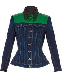 Burberry Prorsum Contrast-Yoke Denim Jacket blue - Lyst