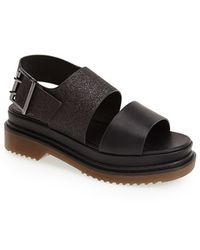 Topshop 'Fashion' Chunky Double Band Sandal - Lyst