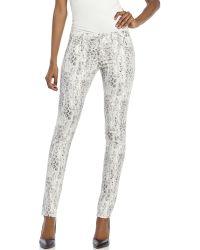 The Kooples White Snakeskin Print Skinny Jeans - Lyst