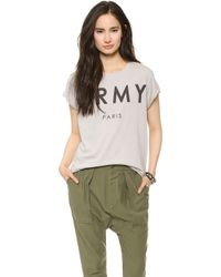 The Laundry Room | Paris Army Rolling Tee Grey | Lyst