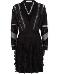 Givenchy Ruffle Skirt Knit Dress - Lyst