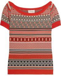 Temperley London Mimi Stretch Jacquard-knit Top - Lyst
