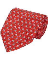 Ferragamo Dog  Shoe-Print Neck Tie - Lyst