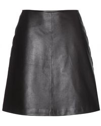 Tory Burch Linley Leather Skirt - Lyst