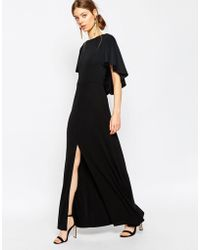 ASOS | Crepe Maxi Dress With Soft Cape Back Detail | Lyst