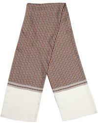 Gucci Brown Silk Pattern Printed Scarf - Lyst