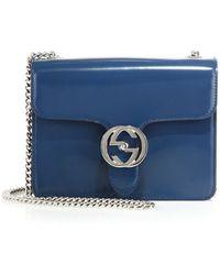 Gucci | Interlocking Polished Leather Shoulder Bag | Lyst