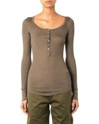Isabel Marant Mamy Ribbed Silk-jersey T-shirt - Lyst