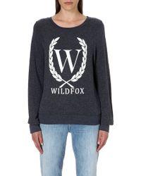 Wildfox Laurel Jersey Sweatshirt - Lyst