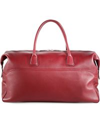 Canali - Leather Duffle Bag - Lyst