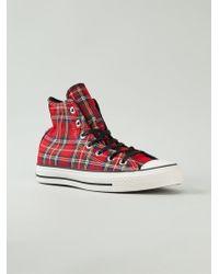 Converse Tartan Hi-top Sneakers - Lyst