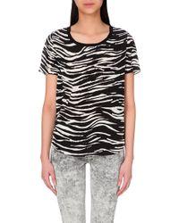 The Kooples Sport Zebra-Print Silk Top - For Women - Lyst