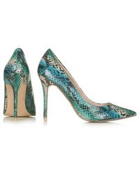 Topshop Gemini2 Snake-Effect Court Shoes - Lyst
