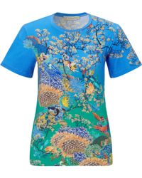 Mary Katrantzou Fitted T-Shirt Ramora Ocean - Lyst