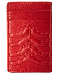 Alexander McQueen Red Card Holder - Lyst