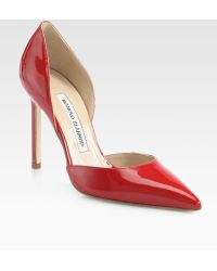 Manolo Blahnik Tayler Patent Leather D'Orsay Pumps - Lyst