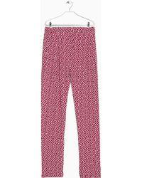 Mango Flowy Printed Trousers - Lyst