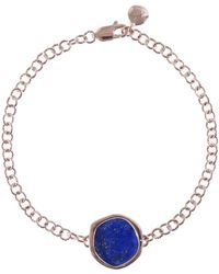 Monica Vinader - Rose Goldplated Vermeil Atlantis Lapis Gemstone Bracelet - Lyst