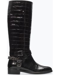 Zara Embossed Leather Boot - Lyst