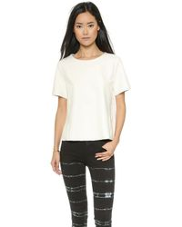 VEDA - Blanco Leather Top - White - Lyst