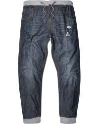 River Island Dark Wash Ryan Slouch Jogger Jeans - Lyst
